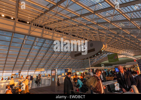 The f gates at charles de gaulle airport in paris roissy france stock photo royalty free image - Bureau de change roissy charles de gaulle ...