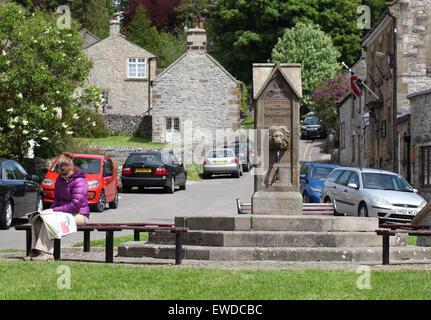 Hartington village in the Peak District National Park - Stock Photo