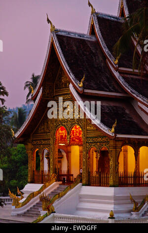 The HAW PHA BANG or Royal Temple is located in the Royal Palace complex - LUANG PRABANG, LAOS - Stock Photo