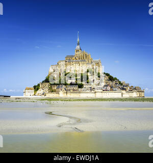Mont saint Michel - Normandy - France - Stock Photo