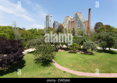 The Turia old river bed park in the city of Valencia, Spain - Stock Photo