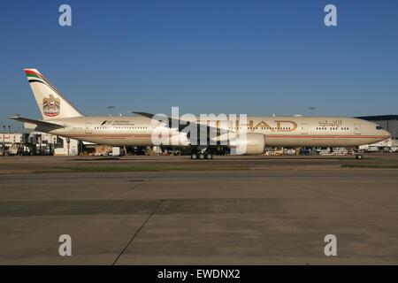 ETIHAD 777 300 - Stock Photo