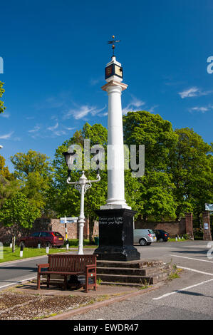 17th Century High Cross at the top end of Boroughgate in Appleby in Westmorland, Cumbria, UK - Stock Photo