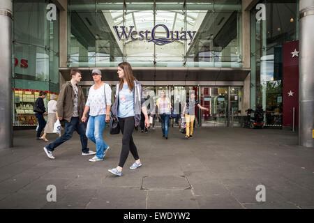 West Quay shopping centre in Southampton UK - Stock Photo