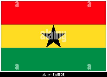 Fahne: Ghana/ flag: Ghana. - Stock Photo