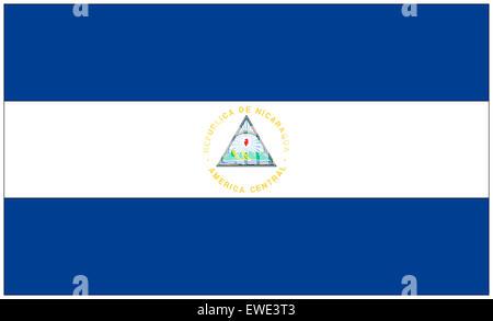 Fahne: Nicaragua/ flag: Nicaragua. - Stock Photo