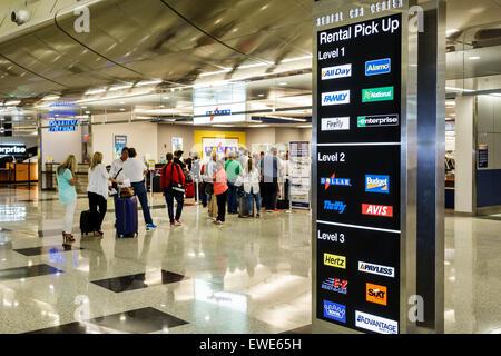 Rental Car Center Miami International Airport Stock Photo