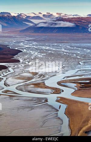 Landscape, Bathurst Bay, Bylot Island, Nunavut, Canada. - Stock Photo