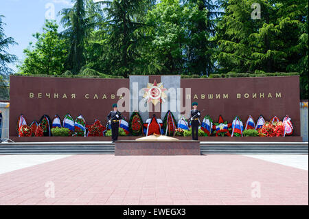 The Zavokzalny War Memorial in Sochi, Russia, on May 12, 2015, as seen before U.S. Secretary of State John Kerry - Stock Photo