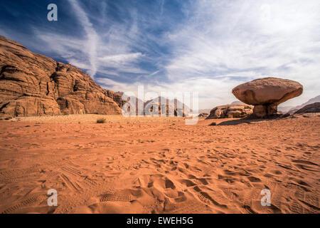 Scenic view of Wadi Rum desert, Jordan - Stock Photo