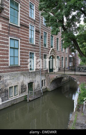Paushuize (Papal Home) at Kromme Nieuwgracht canal in Utrecht, early 16th century manor built for the only Dutch - Stock Photo