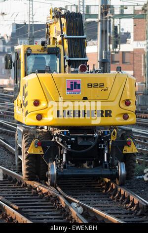 Liebherr 922 Rail to road crane, Cologne, Germany. - Stock Photo