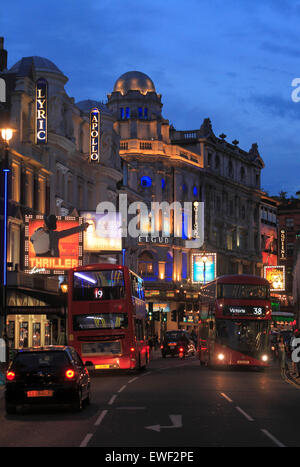 Shaftesbury Avenue Theatres in Londons West End. - Stock Photo