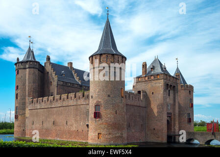Amsterdam, Waterland district, Muiden, the Amsterdam castle - Stock Photo