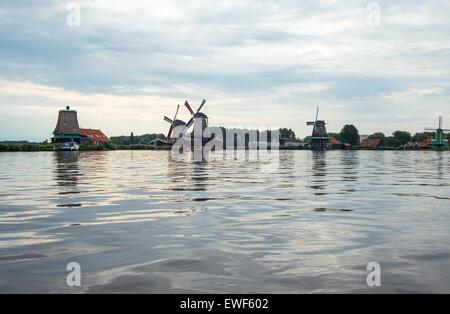 Amsterdam, Waterland district, Zaandam, the famous area of the mills - Stock Photo