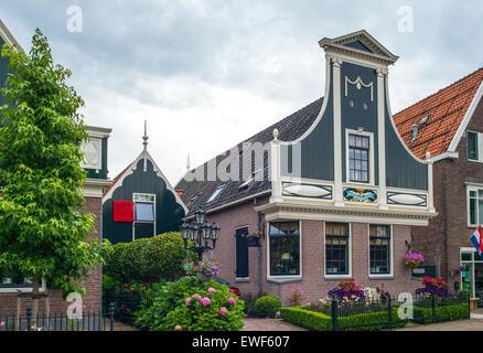 Amsterdam, Waterland district, Zaandam, typical houses - Stock Photo