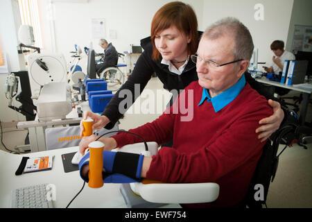 ELDERLY PERSON IN REHABILITATION - Stock Photo