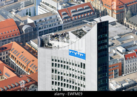Leipzig, Germany, observation deck on the City skyscraper - Stock Photo