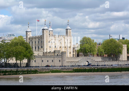LONDON, UK - MAY 13 2015:The Tower of London in City of London, UK.There are 911 World Heritage Sites worldwide. - Stock Photo