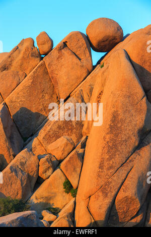 Jumbo Rocks in Joshua Tree National Park, California, USA. - Stock Photo