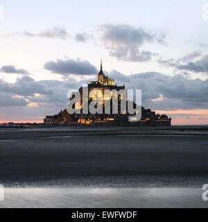 Le Mont Saint Michel, Normandy, France - Stock Photo