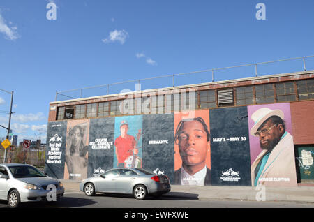 painted billboard adverts new york usa - Stock Photo