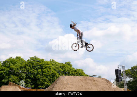 Goodwood, West Sussex, UK. 25th June 2015. Goodwood Festival of speed, The festival of speeds opens on it's first - Stock Photo