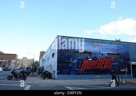painted billboard adverts new york usa - Stock Photo