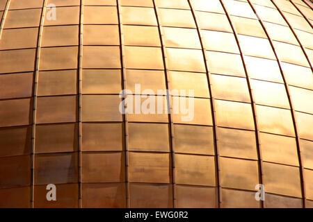 Gold Square Pattern - Stock Photo