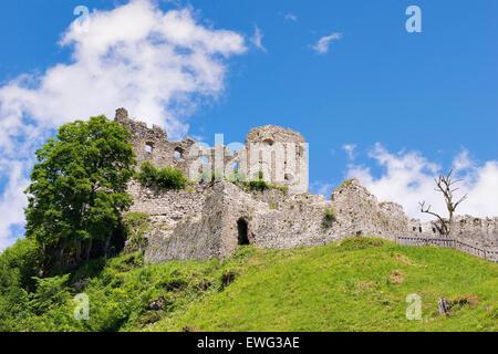 View to castle Ehrenberg in Austria, Tyrol - Stock Photo
