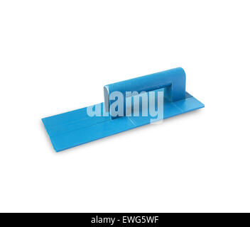 Plastic Trowel for Plastering isolated on white background. - Stock Photo