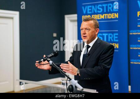 Copenhagen, Denmark, June 17th, 2015: Danish opposition leeader, Lars Loekke Rasmussen (Venstre, read: The Liberal's) - Stock Photo