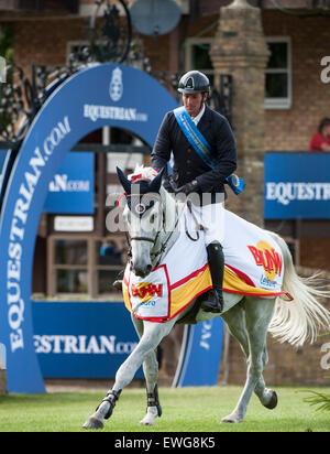 Hickstead, UK. 25th June, 2015. Trevor BREEN [IRL] riding ...