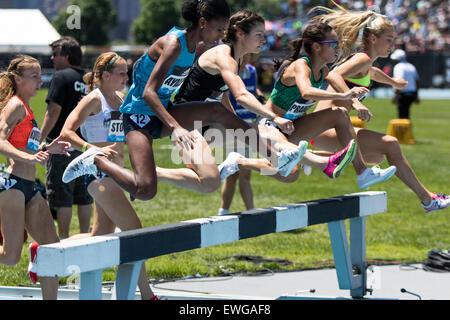Women's 3000m Steeplechase at the 2015 Adidas NYC Diamond League Grand Prix - Stock Photo
