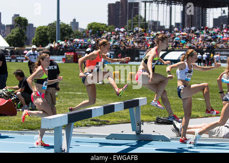 Women's 3000m Steeplechase at the 2015 Adidas NYC Diamond League Grand Prix - Stock Photo