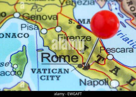 close up of Rome on map, italy Stock Photo: 116885570 - Alamy