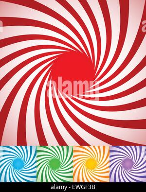 Abstract spirally backgrounds, twisted, rotating radial lines. - Stock Photo