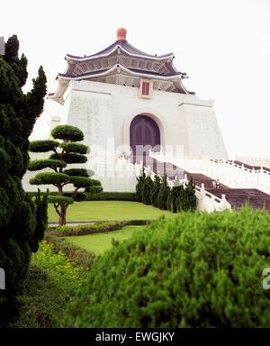 Chiang Kai-shek Memorial Hall at dawn. Taipei, Taiwan. Asia. - Stock Photo