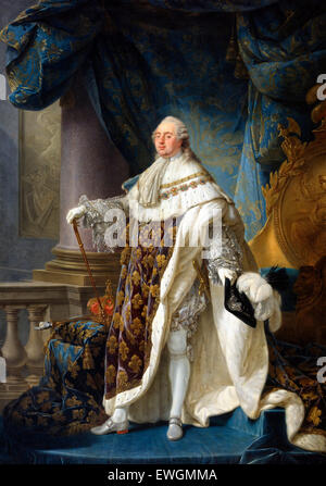 KING LOUIS XVI of France in his coronation robes Stock Photo ...