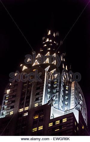 The iconic art deco Chrysler Building, New York, New York USA. - Stock Photo