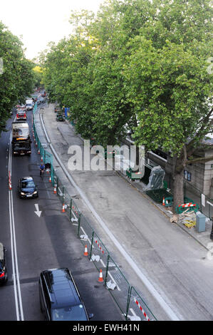 London,UK,25 June 2015,Drivers central London were warned they face year delays as work begins to build Boris Johnson's - Stock Photo