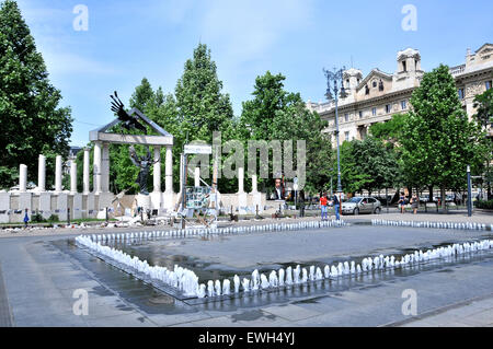 Monument commemorating the occupation of Hungary by Nazi Germany Budapest Hungary - Stock Photo