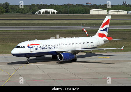 Berlin, Germany, Airbus A320 British Airways - Stock Photo