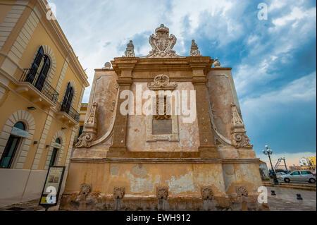 Italy Apulia Salento Gallipoli Hellenistic Fountain - Stock Photo