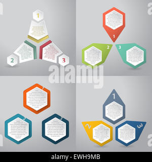 Abstract infographics background design with hexagon elements - Stock Photo