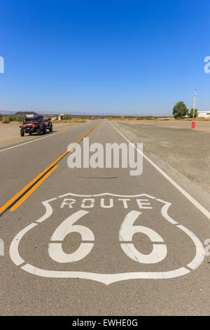 Amboy on Route 66, California, USA. - Stock Photo