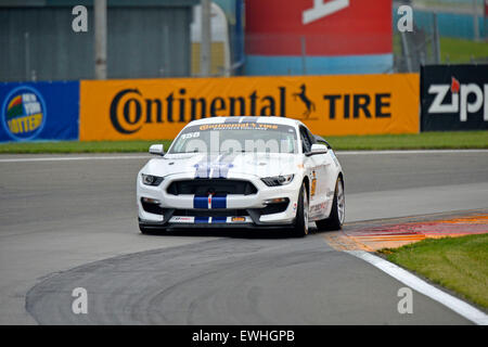 March 14, 2015 - Watkins Glen, NY, U.S. - Watkins Glen, NY - Jun 26, 2015: The Multimatic Motorsports Mustang Boss - Stock Photo
