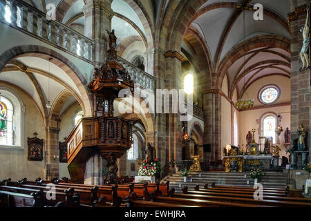 Majestic interior of Abbey-church of Saint Peter and Saint ...