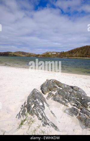 Morar, Scotland. The Silver Sands of Morar - Stock Photo