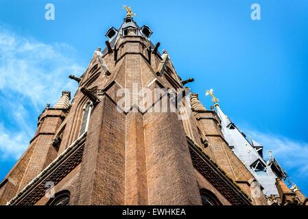 Facade of roman catholic Saint Catharine Church (Catharinakerk) in Eindhoven, Netherlands - Stock Photo